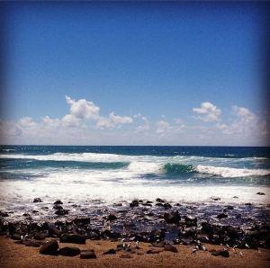 australian beach scene