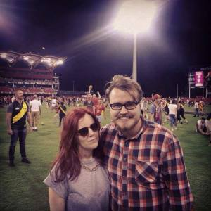 Enjoying my first game of 'footy' at the GC Suns Stadium.