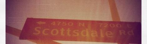 Scottsdale Road american road sign