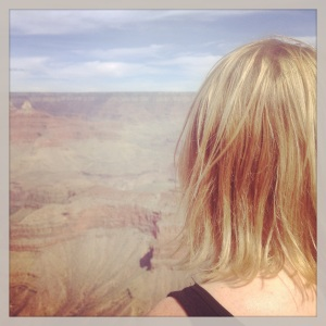 My sis admiring the grand canyon.