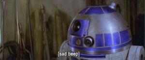 Star Wars sad beep