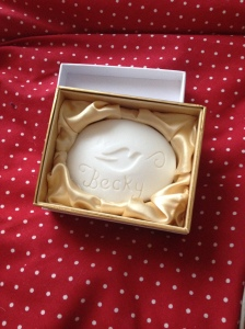 dove soaps name engraved