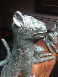 steak and lobster cat sculpture