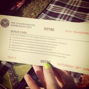 queue card wimbledon