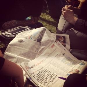 wimbledon queue newspaper
