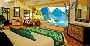 Jade Mountain hotel room view