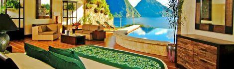Jade Mountain hotel room view
