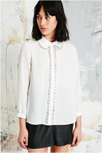 white blouse urban outfitters