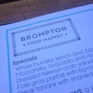 brompton food market menu