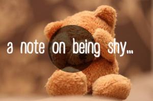 shyness advice life shy