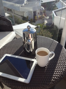 coffee on balcony sheraton