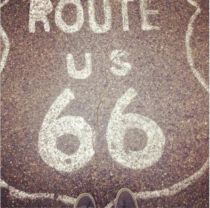 route 66 road paint