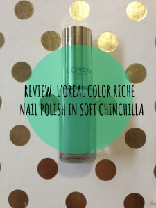 loreal color riche nail polish in soft chinchilla